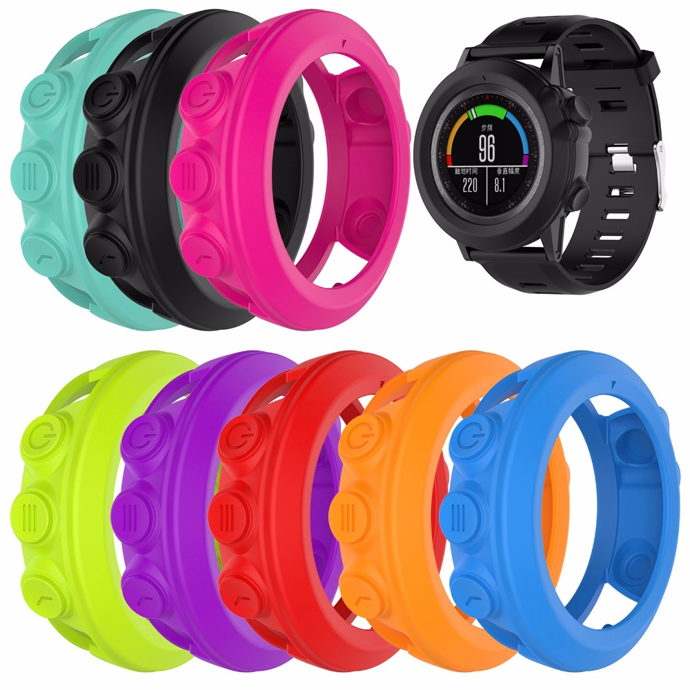 Silicone Protective Shell Housing Case Cover for Garmin Fenix 3/Fenix 3 HR/Fenix 3 Sapphire/Quatix 3/Tactix Bravo Universal Case