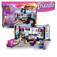 Bela 10403 Friends Gril Pop Star Music Recording Studio Compatible With Legoe Minifigures Bricks sets Building Block Toys