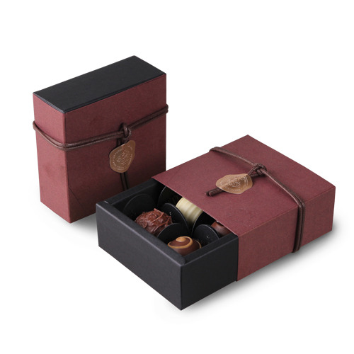 9*9*3.5CM wine / red color 10 set Chocolate Paper Box Storage Boxes valentines day Christmas Birthday Party Gifts Packing use