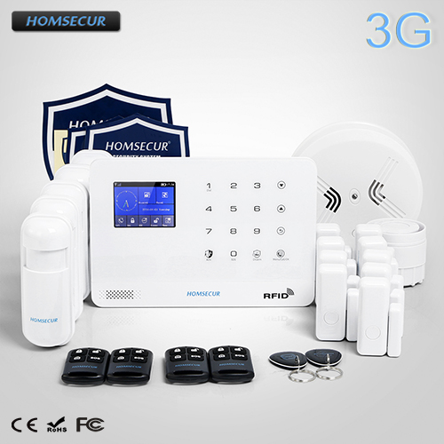 HOMSECUR Wireless LCD 3G/GSM SMS Autodial Burglar Intruder Alarm System LA02-3G