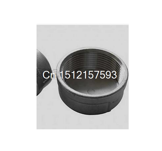4 DN100 Female BSPT threaded 304 Stainless steel Pipe fitting Cap Type