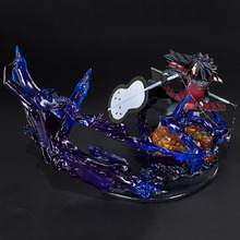 New Naruto PVC Action Figure Zero Uchiha Madara Susanoo Tempestuous God of Valour Yubu no Aragami Collection Model Toys model fans in stock naruto dstudio 56cm uchiha madara wood dragon gk resin made contain led light figure toy for collection