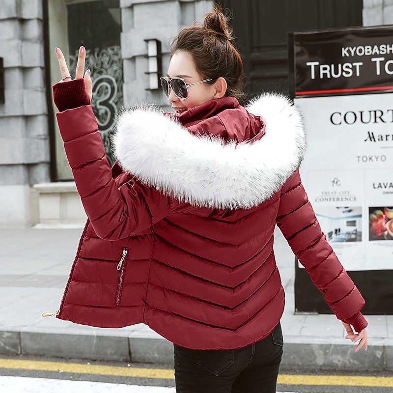 00ba713f135c 2018 новый стиль моды куртка осень-зима Для женщин тонкий зимнее пальто Для  женщин теплая