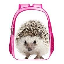 Impresión linda del erizo animal bolsa de Los Niños mochila de viaje de las mujeres niñas bolsos de escuela del bebé mochila para bolsas estudiantiles para niños 013