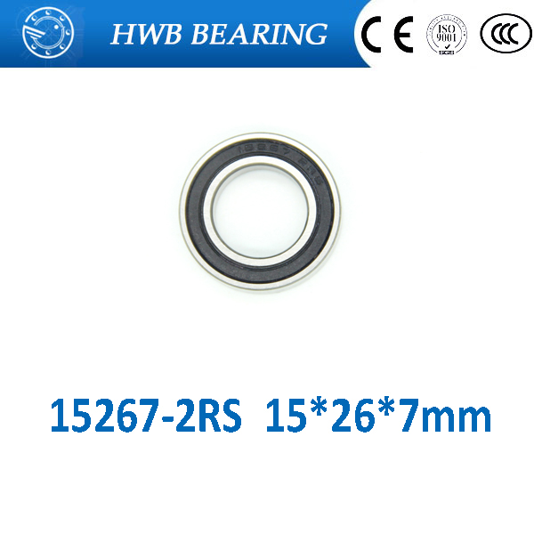 Free shipping 2pcs 15267-2RS GCR15 ball bearing 15x26x7mm 15267RS bike wheels bottom bracket repair bearing MR15267 15267 2RS 15267 2rs 15 26 7mm 15267rs si3n4 hybrid ceramic wheel hub bearing