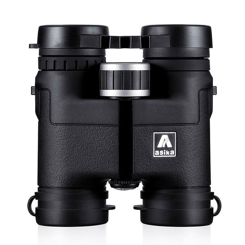 Tikras Asika 8X32 teleskopas Binokliai medžiokliniai vandeniui profesionalūs žiūronai Bird Watching HD Military black