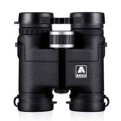 Genuino Asika 8X32 telescopio binoculares para caza camping impermeable profesional binoculares avistamiento de aves HD militar negro