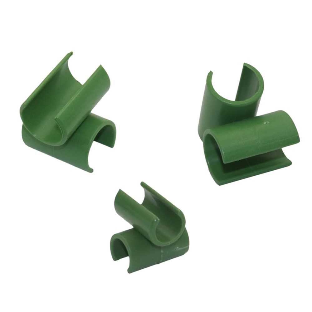 Cross Plastic Clips Plant Support Fixed Connector Agriculture Adjustable Fastener Gardening Pillars Fixed Clamp 10 Pcs