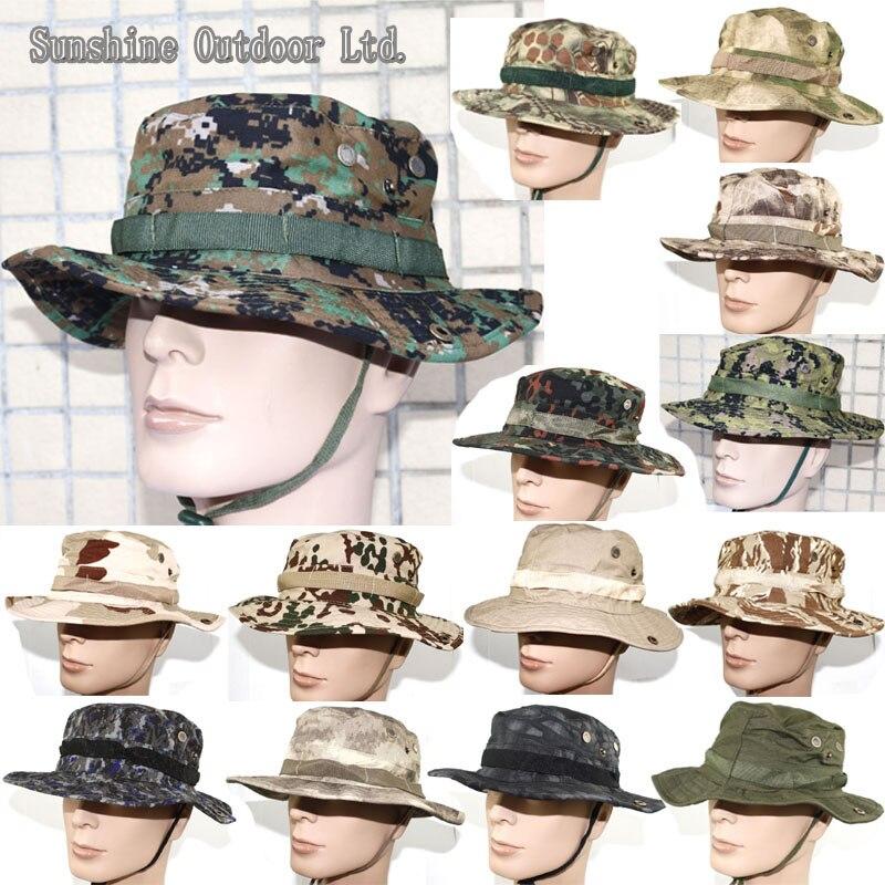 ᗜ LjഃCaza o Sniper camuflaje Boonie sombrero senderismo caps - a40