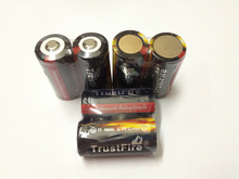 20pcs/lot TrustFire Protected 16340 880mAh 3.7V Rechargeable Li-Ion Battery Batteries Free Shipping стоимость