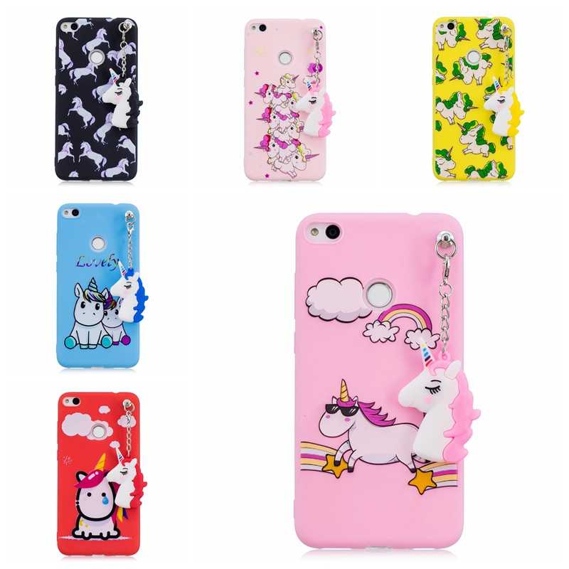 Cute Toy Unicorn Cases For Coque Huawei P8 Lite 2017 Case Soft Silicon Back Cover For Huawei P8 Lite 2017 / Honor 8 Lite Hoesjes