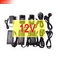 12ボルト電源用ledストリップeu/米国/イギリス/auアダプタac110-220vにdc12v 1a 2a 3a 4a 5a 6a 10aコード4オプションプラグ変圧器iq