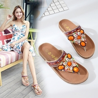 Female Summer 2018 New Style Beach Cool Slippers Folder Feet Flat With Outside Wear Character Drag