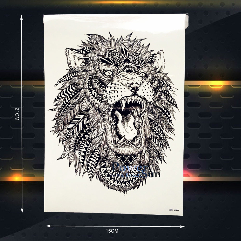 Hot Sale Hot Sale Temporary Tattoo Lion King Designs Men Body Art