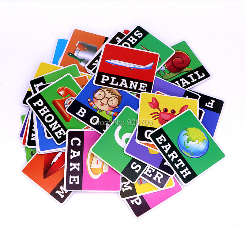 Alphabet Letters Card Game Learning toys English Word ABC Puzzle Toy,Children Educational Toys Baby Learning Literacy Fun game