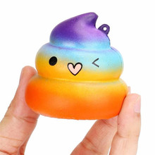2019 Fun Crazy Star Poop  Relief Toys Charm Slow Rising Simulation Kid Toy Schocker Funny Gift Prank Toys  Decompression toys