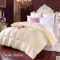 Doppel Weiße Ente Unten Dicke Decke Winter Quilt Weiß Tröster Marken Gelb edredon Rosa edredom Gesteppte Patchwork Tagesdecke