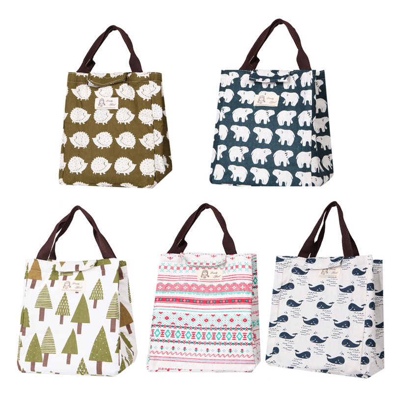 THINKTHENDO Portable Tote Thermal Insulated Lunch Box Bag Cooler Picnic Pouch New