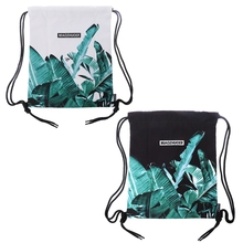 THINKTHENDO Fashion Drawstring Backpack Waterproof Bags for Women 2018 Floral String Bag Cinch Sack Unisex