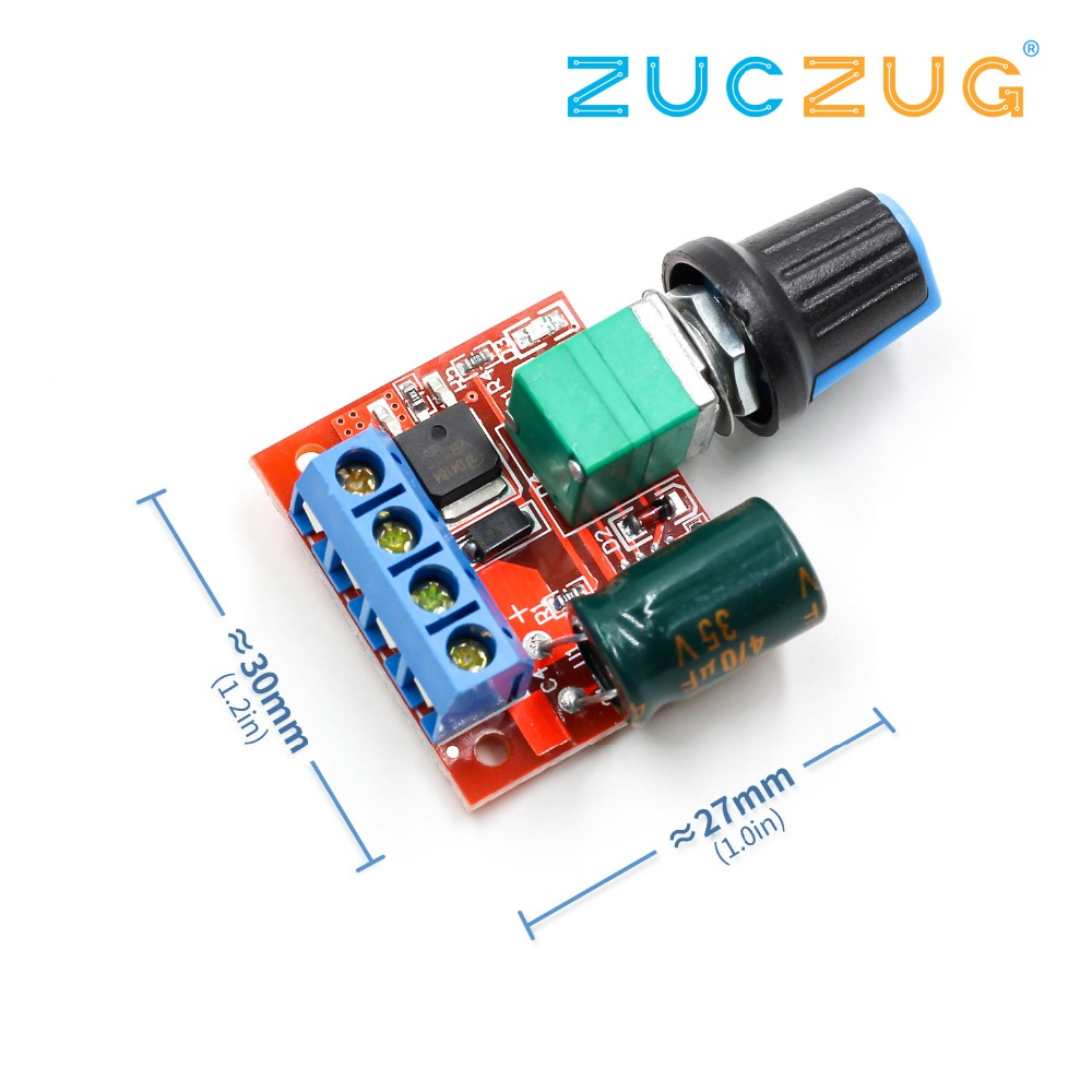 Mini DC-DC 4.5V-35V 5A 90W PWM DC Motor Speed Controller Module Speed Regulator Control Adjust Adjustable Board Switch 12V 24V