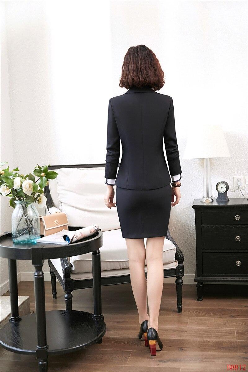 Avec Et marine Blazer Bureau Dames Jupe Formelle Work Veste Ensembles Noir Conceptions Noir Uniforme Bleu Complet Wear Femmes X0BnFxR
