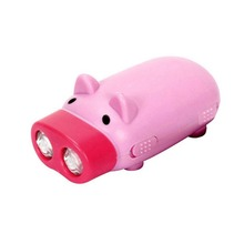 2018 New Mini Hand Pressure Pig Torch Self-generating LED Flashing Light Portable Flashlight With 2 LEDs (Random Color) Dropship
