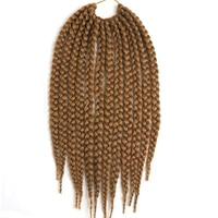 Feibin 6 packs Box Braids Hair Extensions For Black Women 3X Senegalese 18inch Synthetic Braiding Hair Extension 4