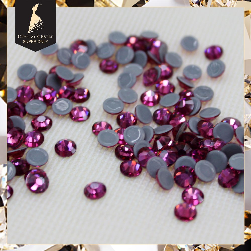 Crystal Castle 5A Super Rhinestones Glue SS6 SS30 Nails Strass Clothes Stone  Sewing Fabric Rhinestone Decoration Hotfix Strass-in Rhinestones from Home  ... b6720406d75f