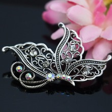 Popular Butterfly Brooches Wedding Crystal Breastpin Rhinestone Luxury brooches for women bouquet Jewelry making Gifts 36x56mm