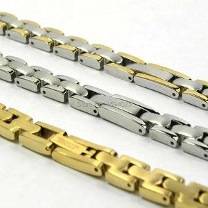 Image 2 - 8ミリメートルT003209時計バンド時計部品女性ストリップ固体黄金間ゴールドシルバーステンレススチールブレスレットストラップ