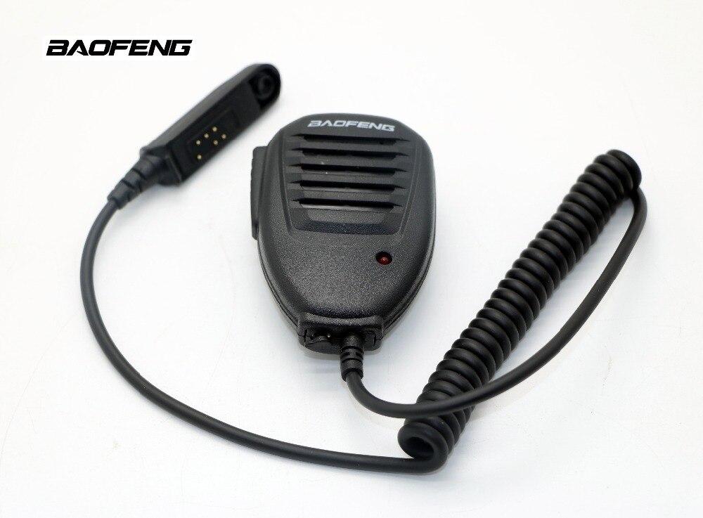Nouveau Talkie Walkie accessoires BAOFENG Haut-Parleur Étanche MIC pour BF-A58 BF-9700 UV-9R Two Way Radio talkie walkie noir mic