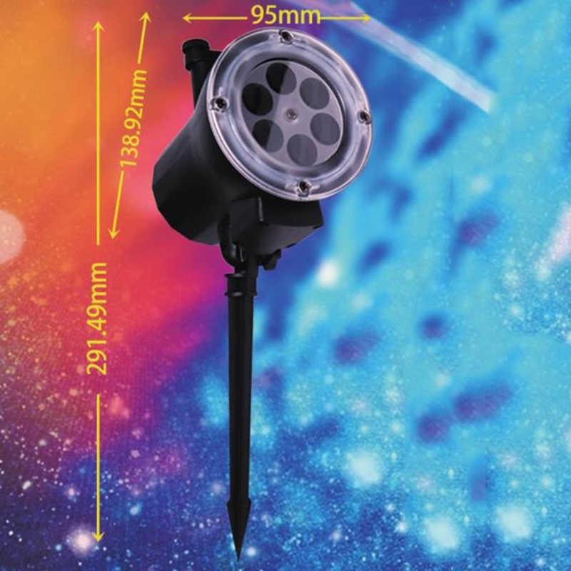Luces de Navidad al aire libre impermeable 12 patrón proyector lámpara Led Luz de proyección de jardín con Control remoto EU US AU UK Plug