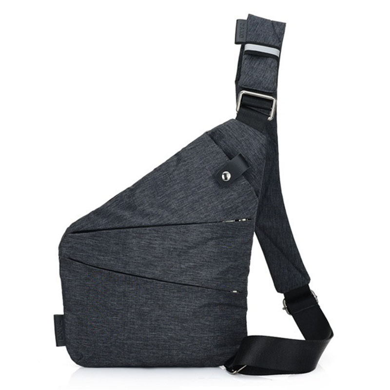 Men Chest Bag Sling Single Shoulder Strap Back Pack Bag Polyester Travel Bags Rucksack Crossbody Casual One Shoulder Backpacks
