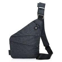 Купить с кэшбэком Men Chest Bag Sling Single Shoulder Strap Back Pack Bag Polyester Travel Bags Rucksack Crossbody Casual One Shoulder Backpacks