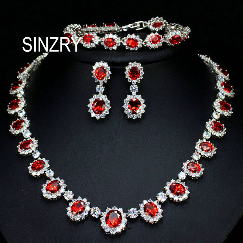 SINZRY Gorgeous Micro pave Full CZ round zircon Flower Party Wedding Jewelry Sets necklace bracelet earring set For bridal потолочная люстра alfa estera new 17076