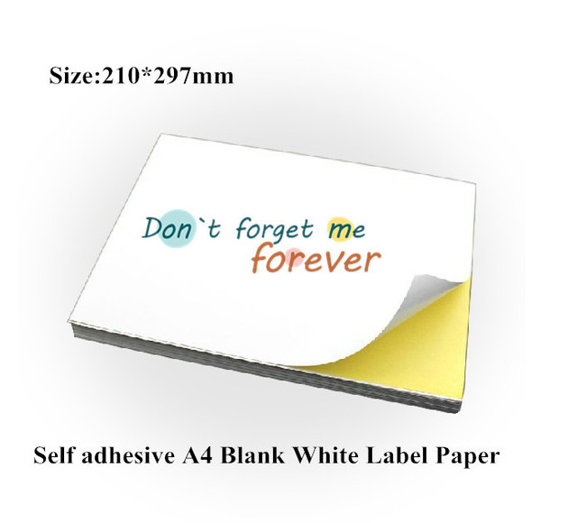 Aliexpress buy self adhesive a4 blank white label paper for self adhesive a4 blank white label paper for laser inkjet printer glossy surface reheart