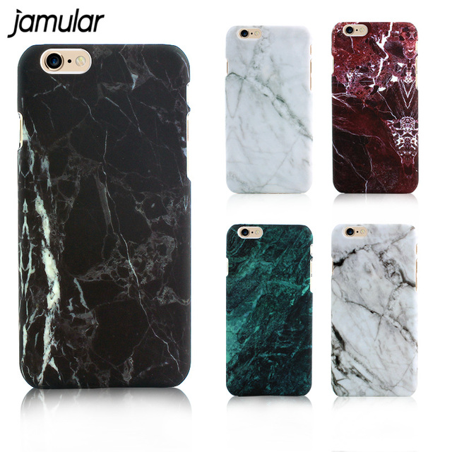 JAMULAR Marble Phone Case for iPhone X 8 6 6s Plus Hard Plastic Cases for iPhone  7 Plus 5s SE Cover Coque Ultrathin Back Covers c02bfe38e6