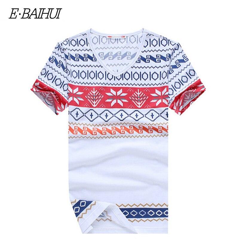 E-BAIHUI summer style mens   t     shirts   fashion printing Clothing Swag Men brand   T  -  shirts   Camiseta Tee Skate Moleton   t     shirt   Y026