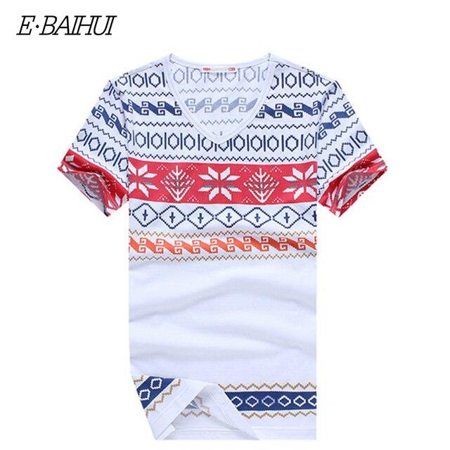 E-BAIHUI 夏スタイルメンズ tシャツファッション印刷服盗品の男性ブランド Tシャツ Camiseta Tシャツスケート Moleton tシャツ Y026