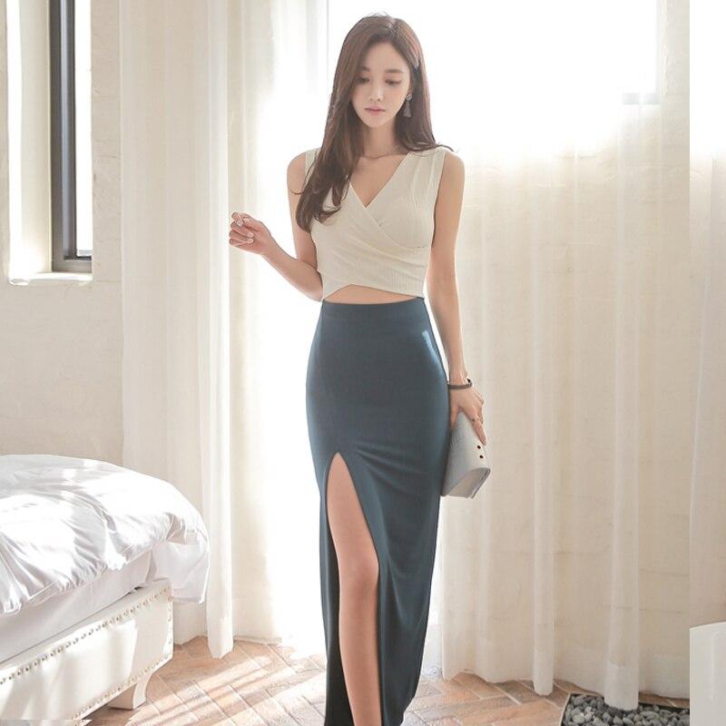 Elegante Estilo Coreano Diseo Original Sexy Blanco -9453