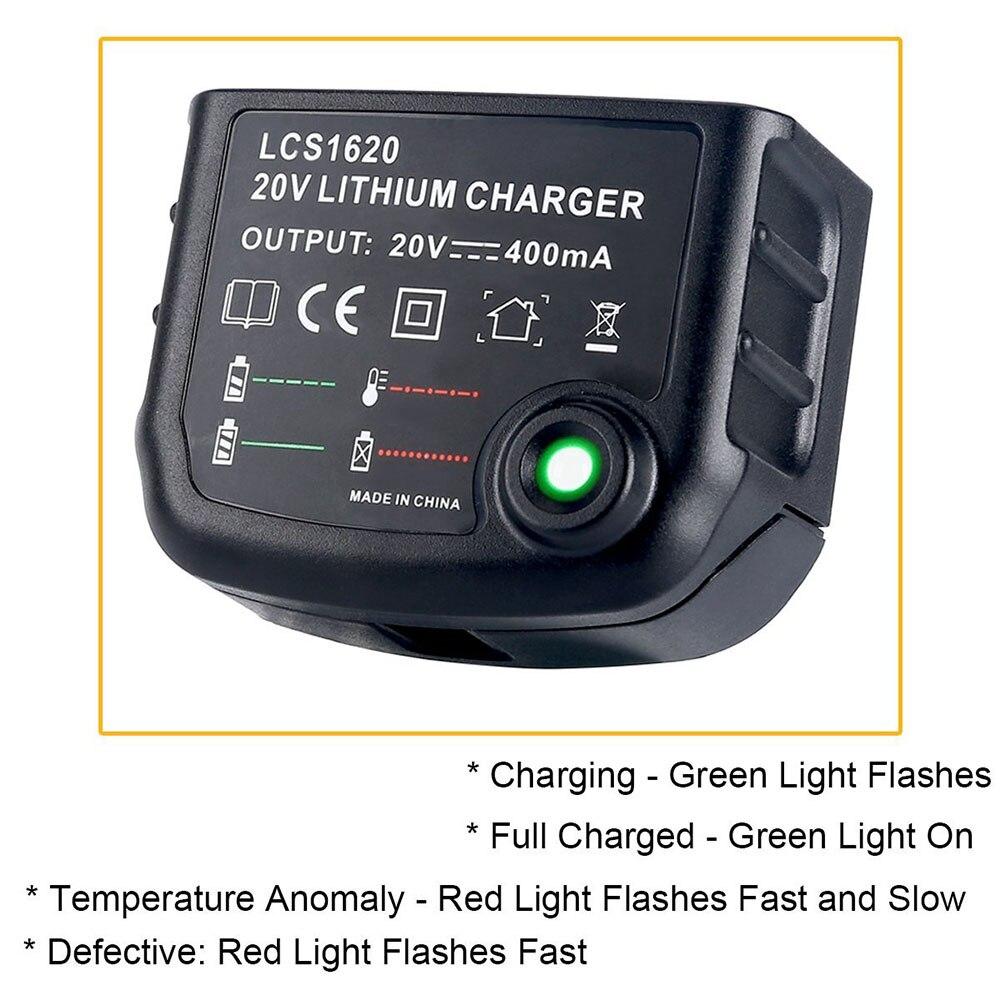 Neu 20 v Lithium-Batterie Ladegerät LCS1620 für Schwarz Decker