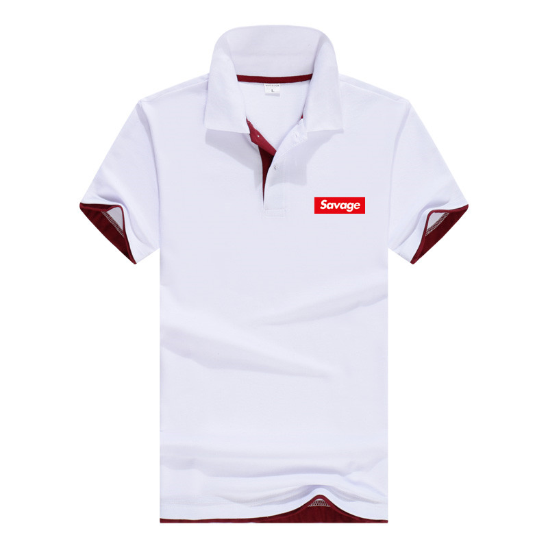 Savage Brand Men's   Polo   Shirt For Men Desiger   Polos   Men Cotton Short Sleeve shirt Clothes jerseys golftennis Plus Size M- XXXL