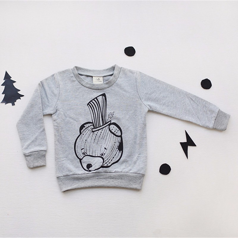 3For Boys Girls Sweater T-Shirts Clothes Autumn Winter New Panda Bear Printing Tops Kids Sweatershirt  Tees Clothing Full Sleeve 08