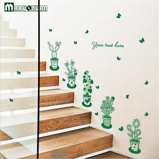Décoration Murale Usine Vert En Pot En Verre Du Cabinet Portes Et