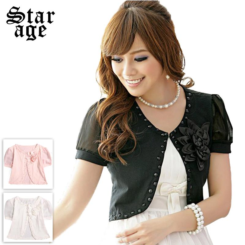 L 3XL Plus Size Summer Beading Corsage Small Jackets Coat Ladies ...