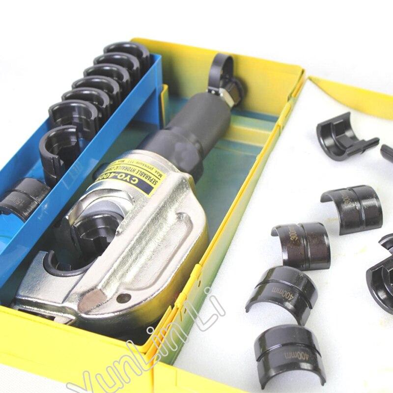 Linha de Pressão elétrico Alicates De Friso 16-400mm2 Portátil Pinças Hidráulicas Ferramentas Hidráulicas de Friso Cabeça CYO-400B