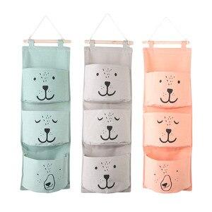 Image 1 - 벽 교수형 욕실 목욕 장난감 가방 주최자 리넨 옷장 어린이 파우치 아기 목욕 완구 도서 화장품 잡화