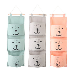 Wall Hanging Bathroom Bath Toy Bags Organizer Linen Closet Children Pouch For Baby Bath Toys Books Cosmetic Sundries(China)