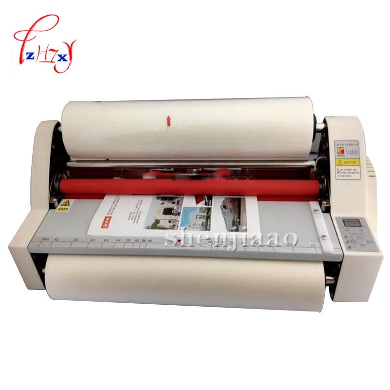 17.5 V480 paper laminating machine,students card,worker card,office file laminator.Guaranteed photo laminator 110v / 220v 1pc