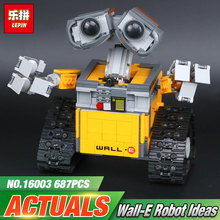 Date Lepin 16003 687 pcs dea Robot WALL E Building Set Kits Blocs Briques Jouet Éducatif Pour Enfants